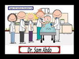 Nursing Instructor Cartoon Picture Male Personalized 8094