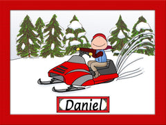 Snowmobile Cartoon Picture Male - Personalized 8102
