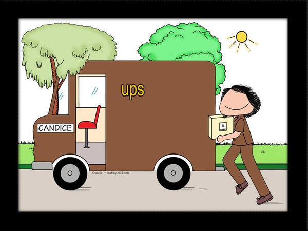 Package Delivery Cartoon Picture | Personalized UPS / Fed ...Ups Delivery Truck Clipart