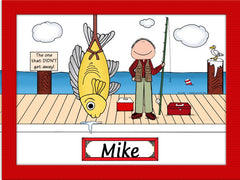Sport Fishing Cartoon Picture Male - Personalized 8105