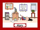 Those Days Office Cartoon Picture Female Personalized 8107