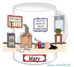 Those Days Office Mug Female - Personalized