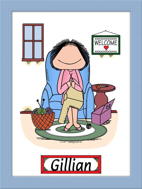 Needleworker Cartoon Picture Female - Personalized 8117