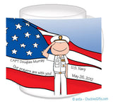Navy Dress Mug Male Personalized
