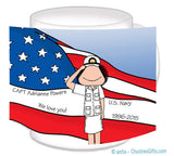 Navy Dress Mug Female Personalized