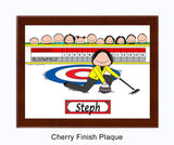 Curling Plaque Female - Personalized 8123