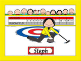 Curling Cartoon Picture Female - Personalized 8123