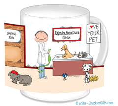 Veterinarian Mug Female - Personalized