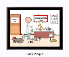 Veterinarian Plaque Male - Personalized