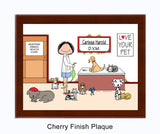 Veterinarian Plaque Female - Personalized