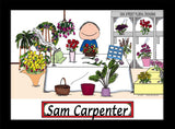 Florist Cartoon Picture Male - Personalized 8126