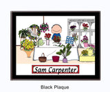 Florist Plaque Male - Personalized 8126
