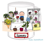 Florist Mug Male - Personalized 8126
