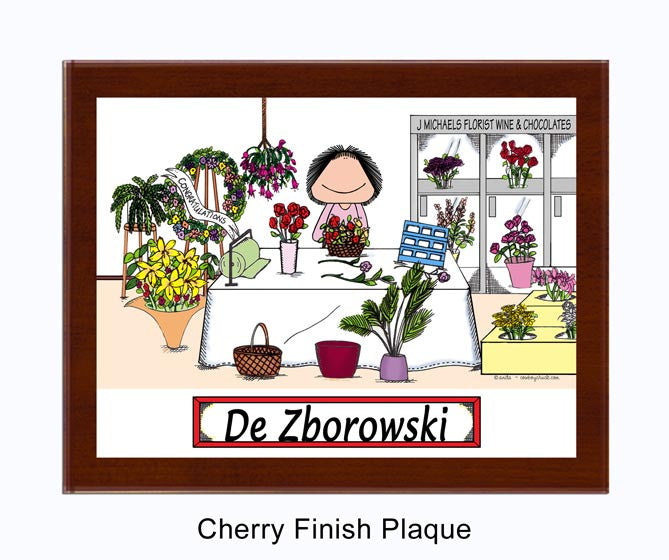 Florist Plaque Female - Personalized 8127