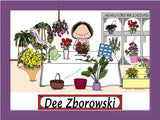 Florist Cartoon Picture Female - Personalized 8127