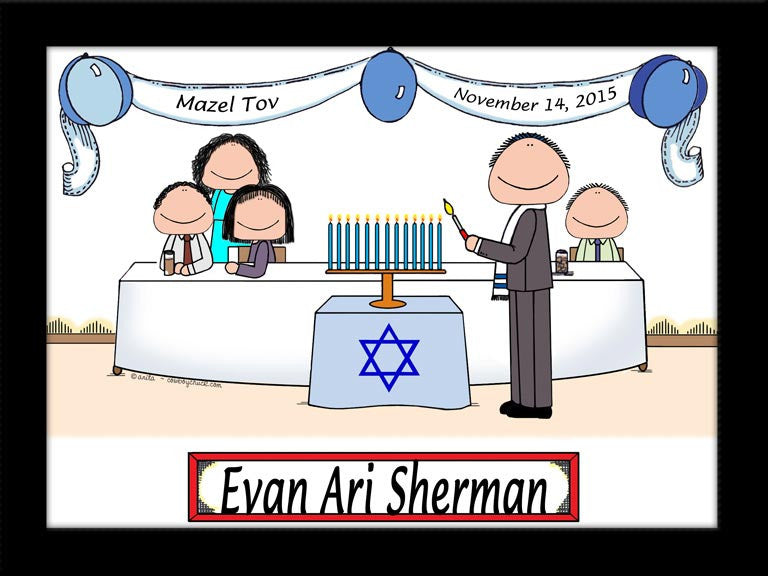 Bar / Bat Mitzvah Party Cartoon Picture