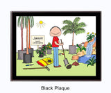 Landscaper Plaque Male - Personalized 8138