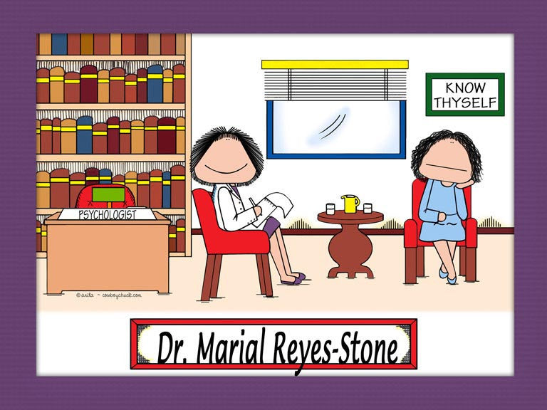 Psychologist / Counselor / Therapist Cartoon Picture