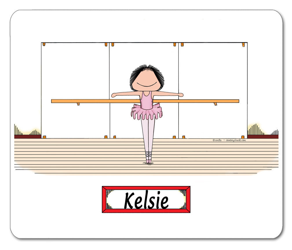 Ballerina Mouse Pad Female - Personalized