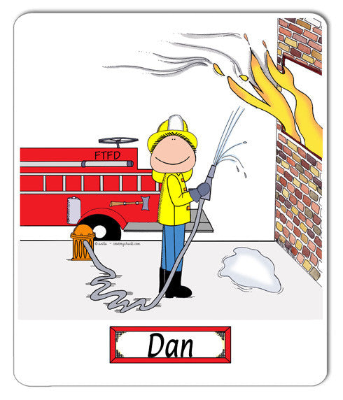 Firefighter Mouse Pad Male - Personalized