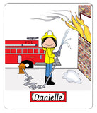 Firefighter Mouse Pad Female - Personalized