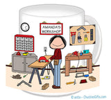 Handyman / Carpenter Mug Female - Personalized