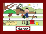 Horse Lover English Cartoon Picture Male - Personalized 8168