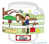 8169 Horse Lover English Mug Female - Personalized