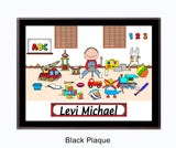 Kid's Room Plaque Male - Personalized