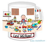 Kid's Room Mug Male - Personalized