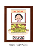 Advisor / Counselor Plaque Female - Personalized