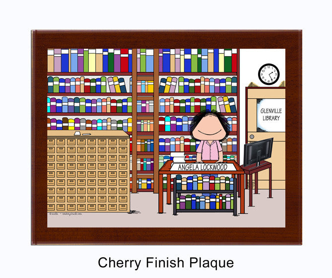 Librarian Plaque Female - Personalized