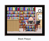 Librarian Plaque Male - Personalized