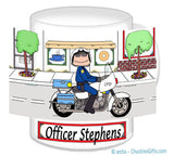 8207 Motorcycle Officer Mug Female - Personalized