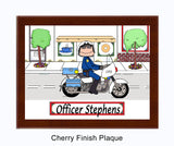 8207 Motorcycle Officer Plaque Male - Personalized