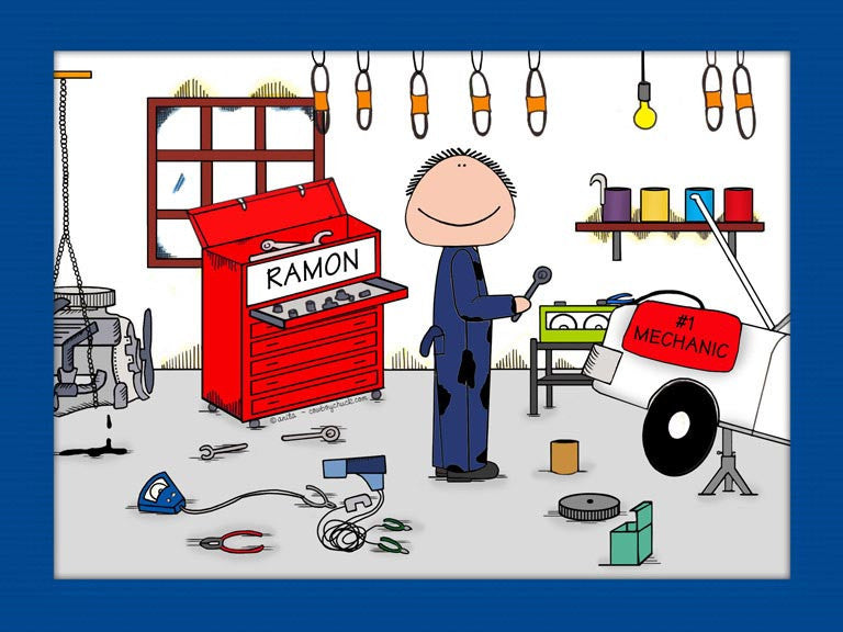 Mechanic Cartoon Picture