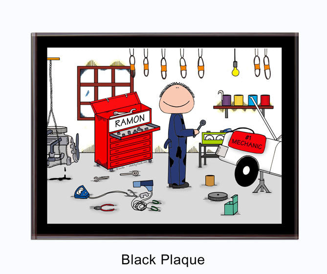 Mechanic Male Plaque Personalized