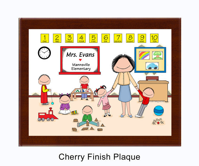 Daycare / PreSchool Plaque Female - Personalized