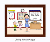#1 Teacher Plaque Female - Personalized - 8219