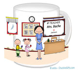 #1 Teacher Mug Female - Personalized