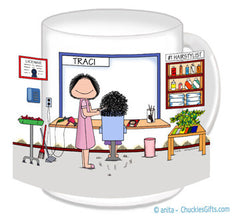 Hair Stylist Mug Female - Personalized