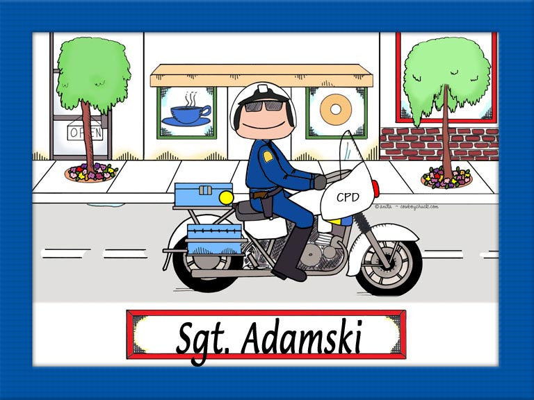 Motorcycle Officer Cartoon Picture