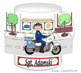 8224 Motorcycle Officer Mug Male - Personalized