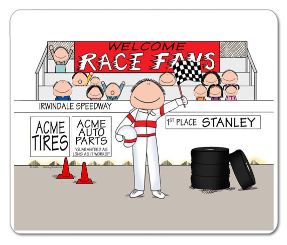 8226 Race Car Driver Mouse Pad Male - Personalized