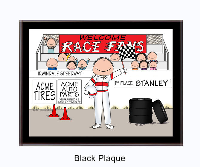8226 Race Car Driver Plaque Male - Personalized