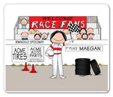 8227 Race Car Driver Female - Personalized