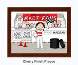8227 Race Car Driver Plaque Female - Personalized