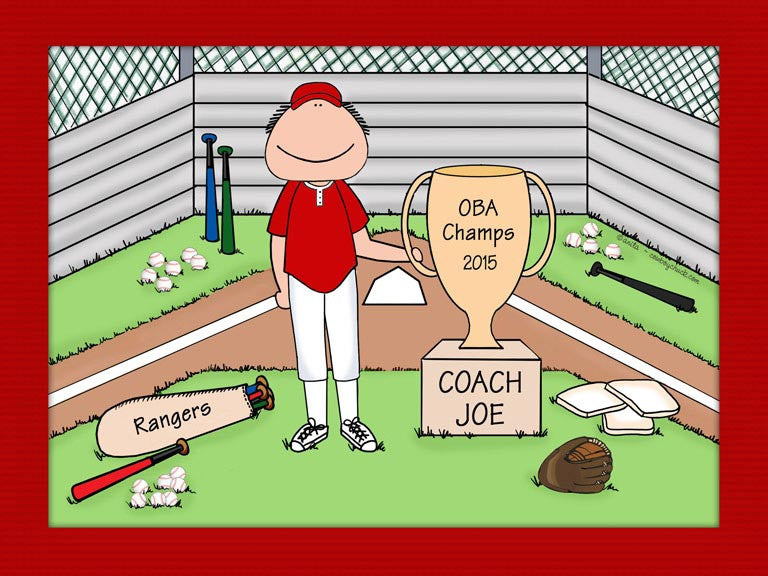 Baseball Coach Trophy Cartoon Picture