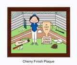Baseball Coach Trophy Plaque - Female Personalized