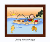 Fisherman Plaque Female - Personalized